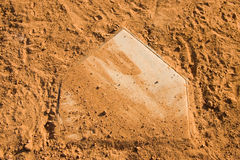 Baseball Homeplate Royalty Free Stock Photo