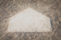 Baseball homeplate Royalty Free Stock Photos