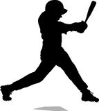 Baseball Homerun Silhouette Royalty Free Stock Photos