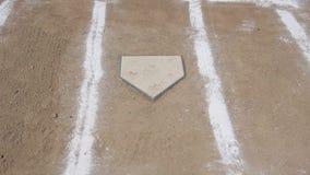 Baseball Horizontal Pan Home Plate Chalk Lines stock footage