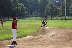 Baseball i Boston Royaltyfria Bilder