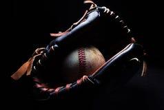 Baseball i handske Arkivbilder