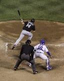Baseball i TARGET690_1_ - Daleko! Zdjęcia Stock