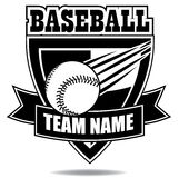 Baseball icon badge shield collection Royalty Free Stock Photography