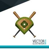 baseball icon design Royalty Free Stock Photography