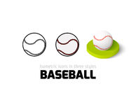 Baseball icon in different style Stock Images