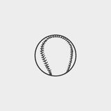 Baseball icon fish icon in a flat design in black color. Vector illustration eps10 Royalty Free Stock Image