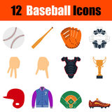 Baseball icon set Royalty Free Stock Photo