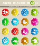 Baseball icon set. Baseball  icons for user interface design Royalty Free Stock Photo