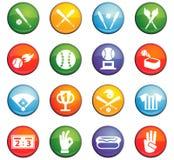 Baseball icon set. Baseball  icons for user interface design Royalty Free Stock Images