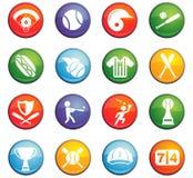 Baseball icon set. Baseball  icons for user interface design Royalty Free Stock Image