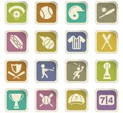 Baseball icon set. Baseball  icons for user interface design Stock Photo