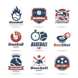 Baseball icon set - 3 Royalty Free Stock Photo
