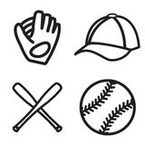 Baseball icon set. Vector eps 10. Stock Photography