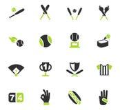 Baseball icon set. Baseball web icons for user interface design Royalty Free Stock Photography