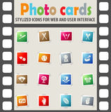 Baseball icon set. Baseball web icons for user interface design Stock Photos