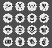 Baseball icon set. Baseball web icons for user interface design Stock Photo
