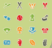 Baseball icon set. Baseball web icons for user interface design Royalty Free Stock Photos