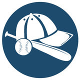 The baseball icon Royalty Free Stock Image