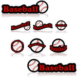 Baseball icons Stock Photos