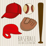 Baseball icons Stock Photography