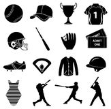 Baseball icons set Stock Photography