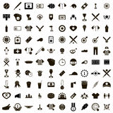 100 Baseball icons set. In simple style isolated on white background royalty free illustration