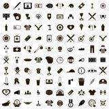100 Baseball icons set Stock Photography