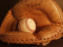 Baseball II. Glove and baseball Stock Image