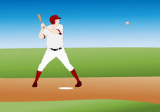 Baseball illustration Royalty Free Stock Images