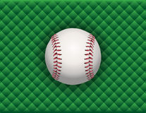 Baseball Illustration on a Green Checkered Background Royalty Free Stock Photos