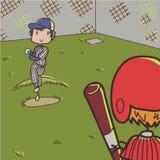 Baseball. Image of two baseball players playing baseball Stock Image