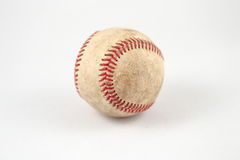 Baseball. Image of a used baseball on white background Stock Photos
