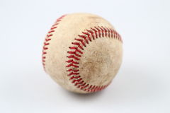 Baseball. Image of a used baseball on white background Royalty Free Stock Photography