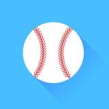 Baseball. Isolated on Blue Background. Long Shadow Stock Photo