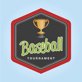 Baseball. Isolated label with baseball elements. Vector illustration Royalty Free Stock Images