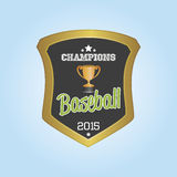 Baseball. Isolated label with baseball elements. Vector illustration Stock Photography