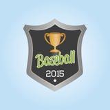 Baseball. Isolated label with baseball elements. Vector illustration Royalty Free Stock Photo