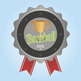 Baseball. Isolated label with baseball elements. Vector illustration Stock Photos