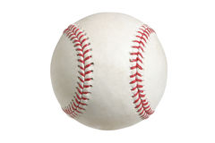 Baseball isolato su bianco con il percorso di residuo della potatura meccanica Immagini Stock Libere da Diritti