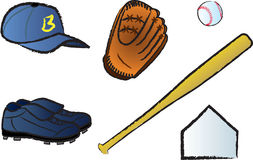 Baseball Items Stock Photos