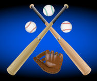 Baseball items . Stock Images