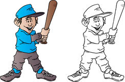 Baseball Kid With Bat Royalty Free Stock Images