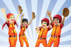 Baseball kids players Royalty Free Stock Image