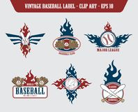 Baseball label sticker Stock Image