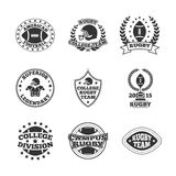 Baseball labels icons set Royalty Free Stock Photos