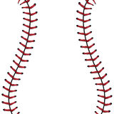 Baseball Lace Background. Softball, baseball red lace over white background Stock Photography