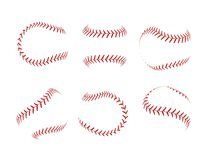 Free Baseball Lace Ball Illustration Isolated Symbol Set. Vector Baseball Background Sport Design Stock Photo - 138271960