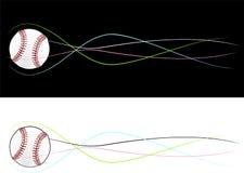 Baseball latająca piłka Zdjęcie Stock