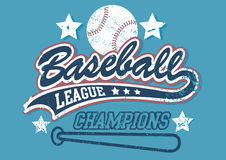 Baseball league champions. On a light blue background Stock Photos